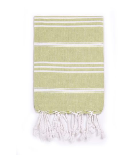 "Turkish-T Lime 100% Cotton Basic Hand Towel 37"" x 25"" (94cm x 64cm)"