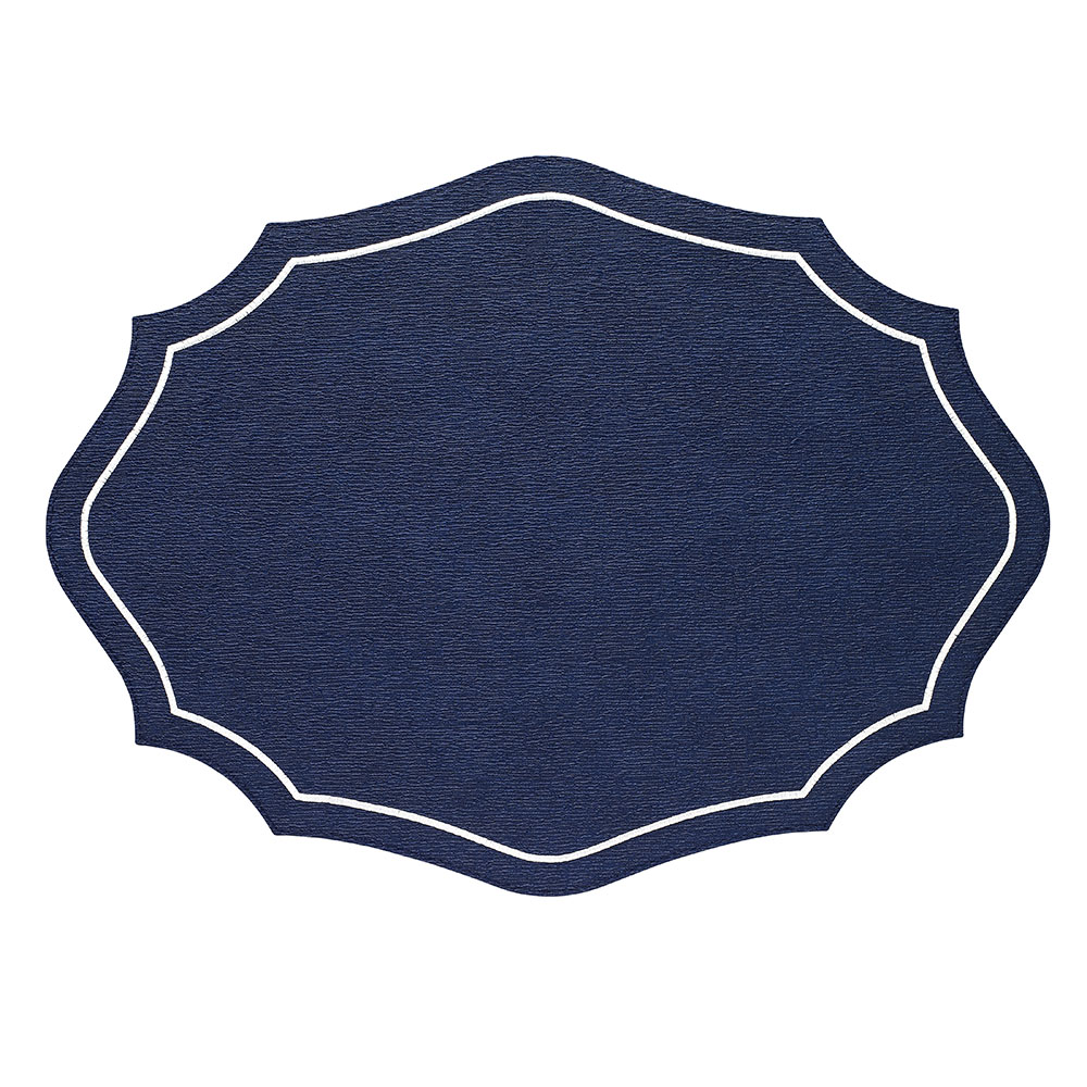 Bodrum Byzantine Navy Blue Easy Care Vinyl Placemats Set